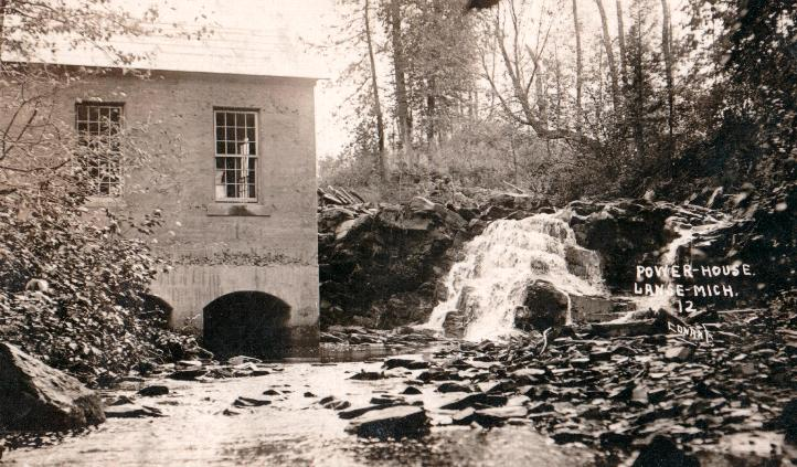 1900 S Picture Of The L Anse House Located On Falls River 20 Showing Burnt Ruins Old Brewery In