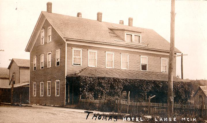 1900 S Picture Of The Thomas Hotel In Downtown L Anse